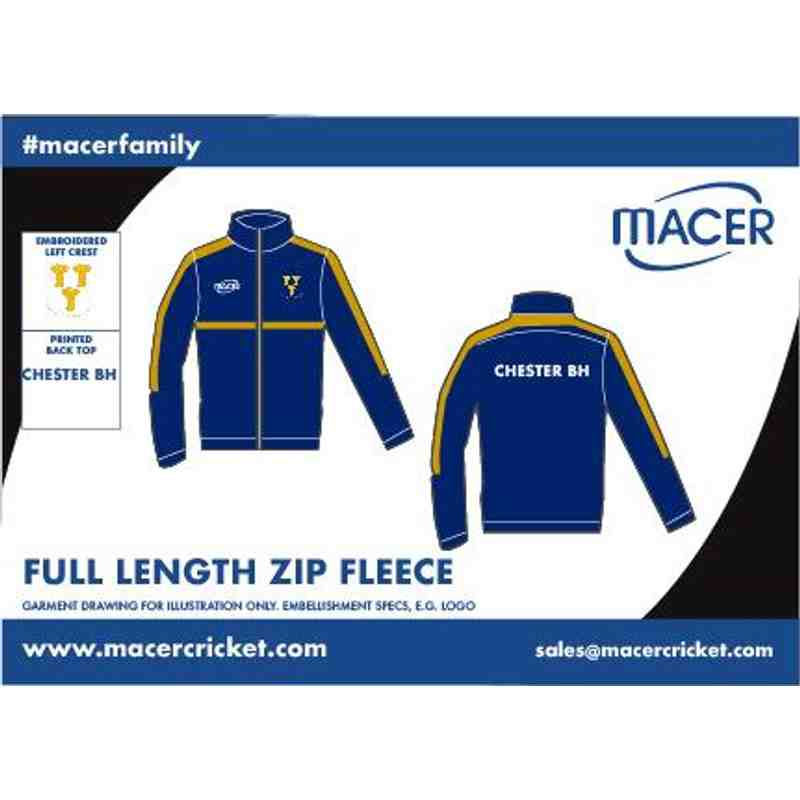 CBHCC Full length zip fleece