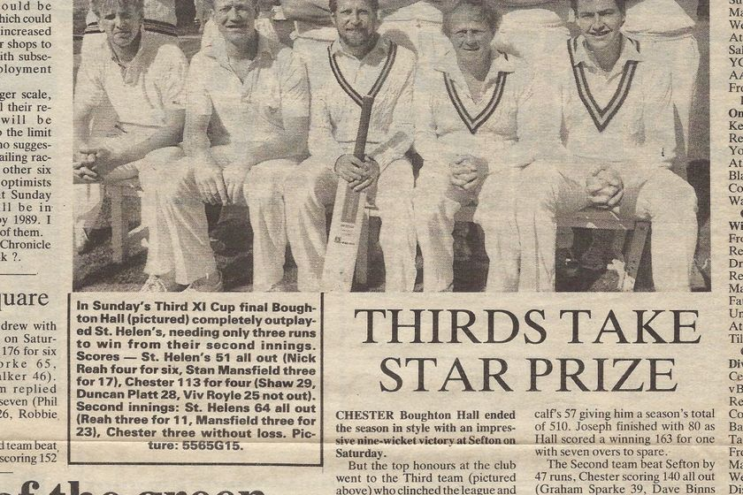 Flashback: All conquering 3rd XI cup winners from 1985