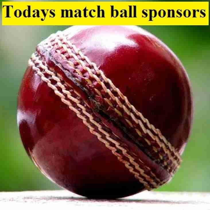 Match day sponsors 29 April