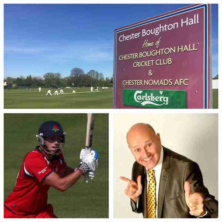 Wed 3 May: Lunch tea, entertainment...and Cheshire v Lancs!