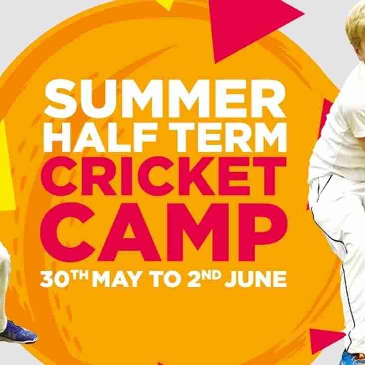 Half term cricket camp at CBH 30 May - 2 June
