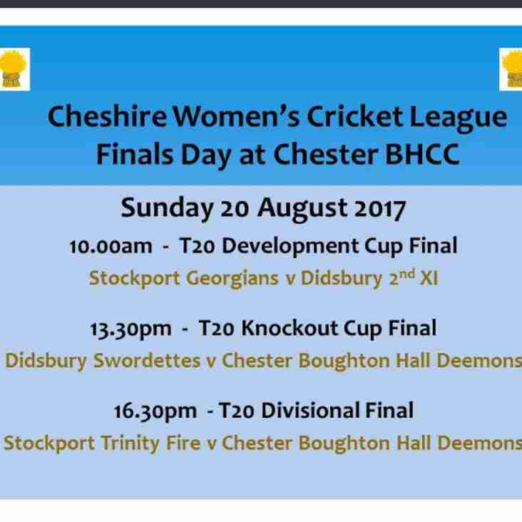 Ladies Day on Sunday too - 3 finals!