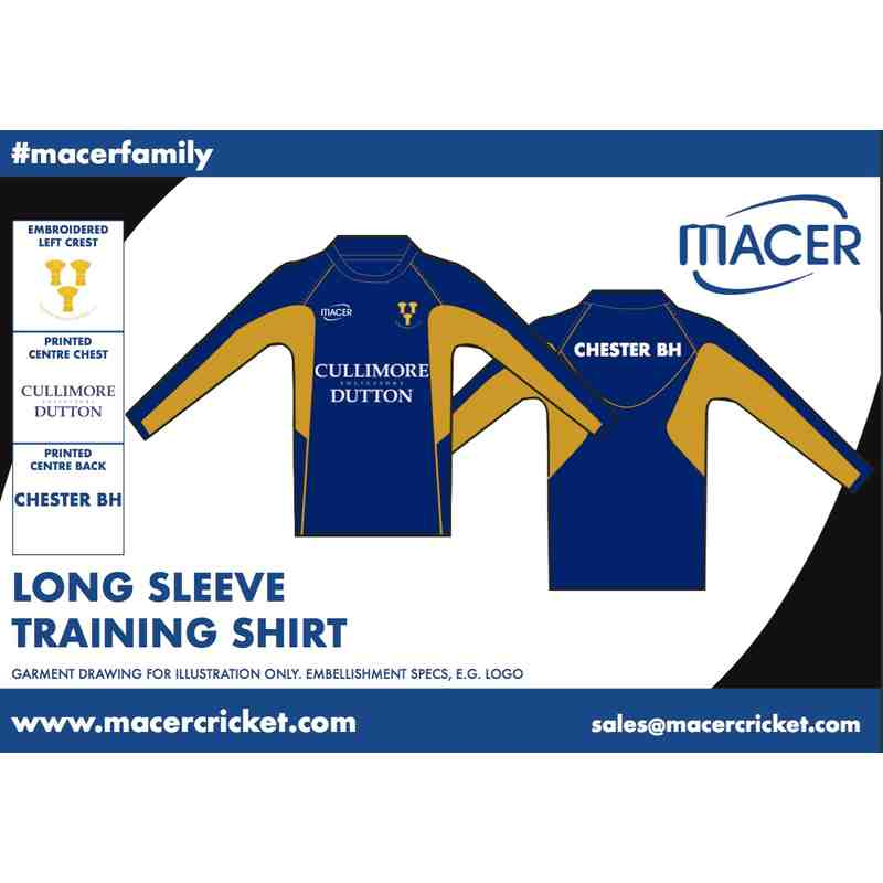 CBHCC Long sleeve training top - navy and gold