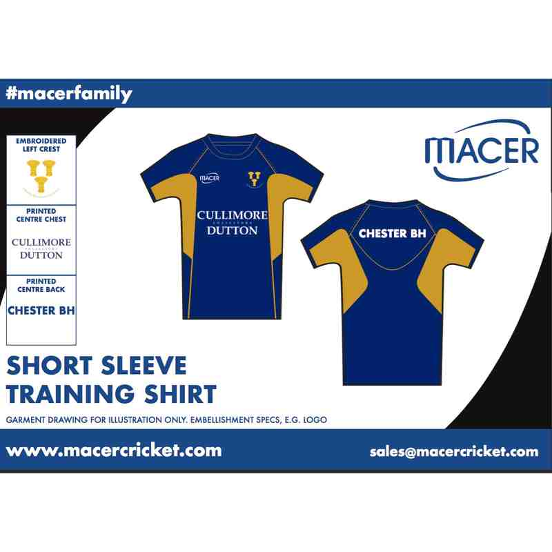 CBHCC Short Sleeve Training Top - Navy and Gold