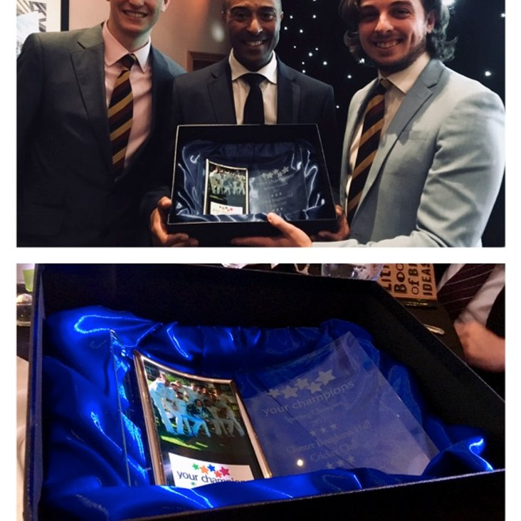 Ross and Jack pick up the Club Award<
