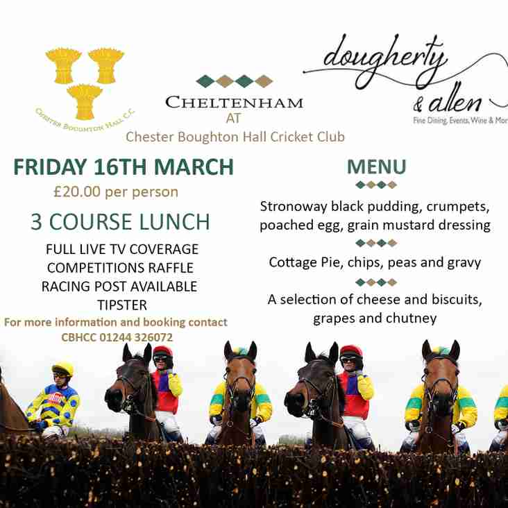 Cheltenham lunch special 16 March FRIDAY