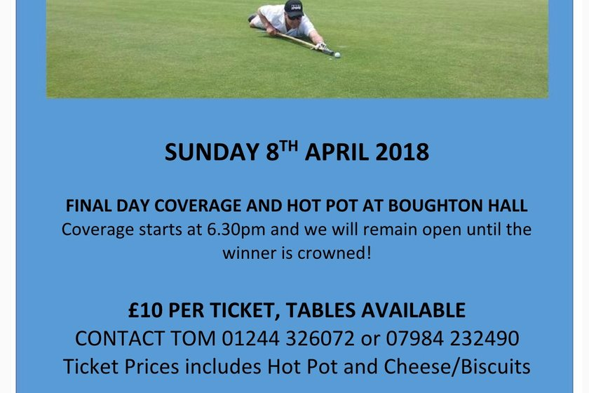 A hot pot and the Masters, Sunday night 8 April