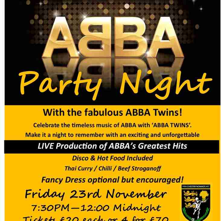 ABBA Party Night, Friday 23 November