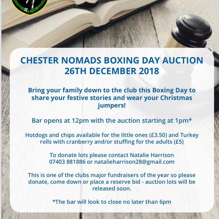 Boxing Day auction spectacular!<