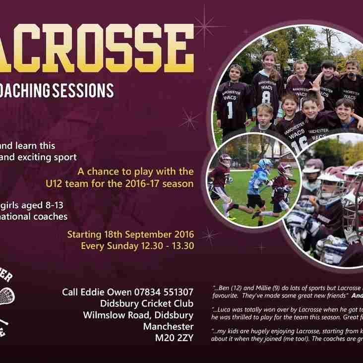 U12 Training starts 18th September