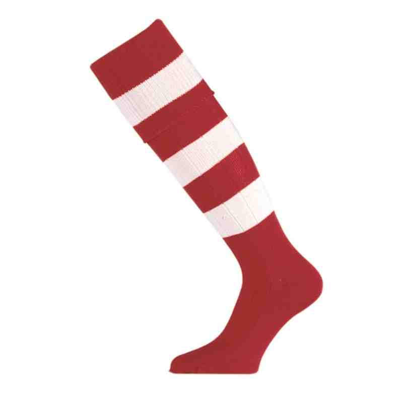 Club Hooped Red Socks