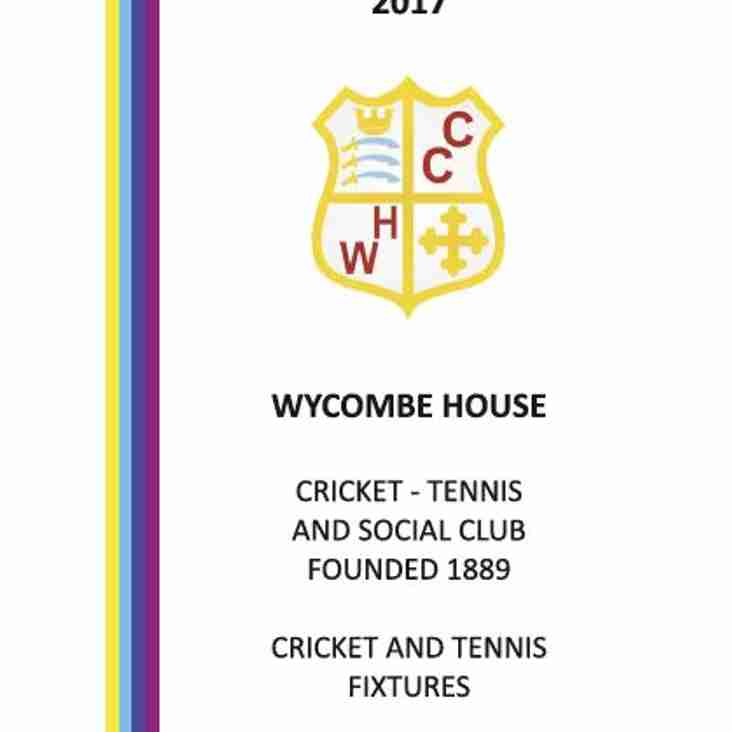 2017 Club Fixture Card Published
