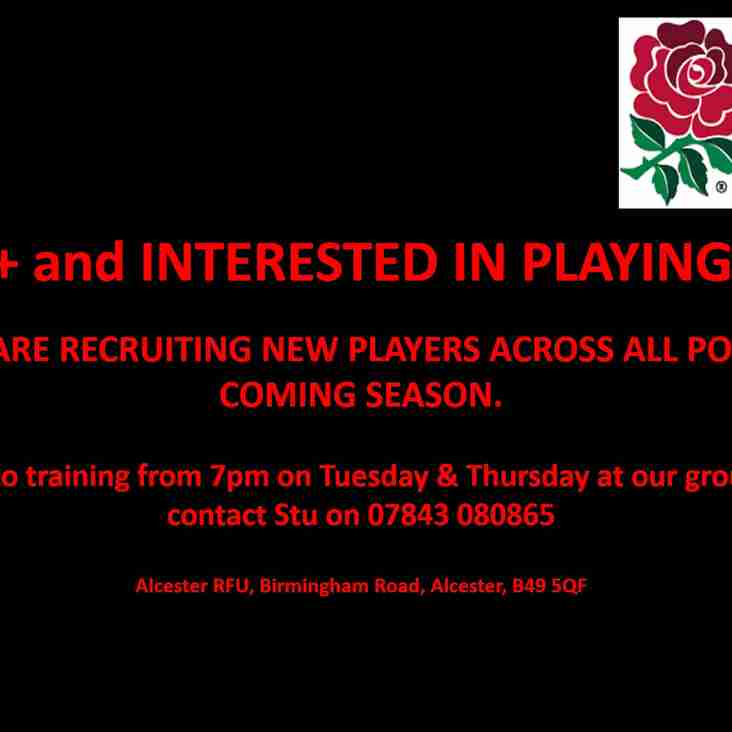 Alcester Colts are Recruiting for the Coming Season