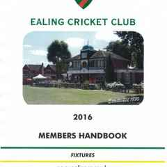 Ealing CC Cricket Handbook 2016