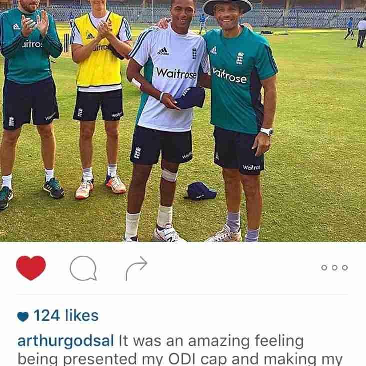 Arthur Godsal called up to Englands U19 touring Party
