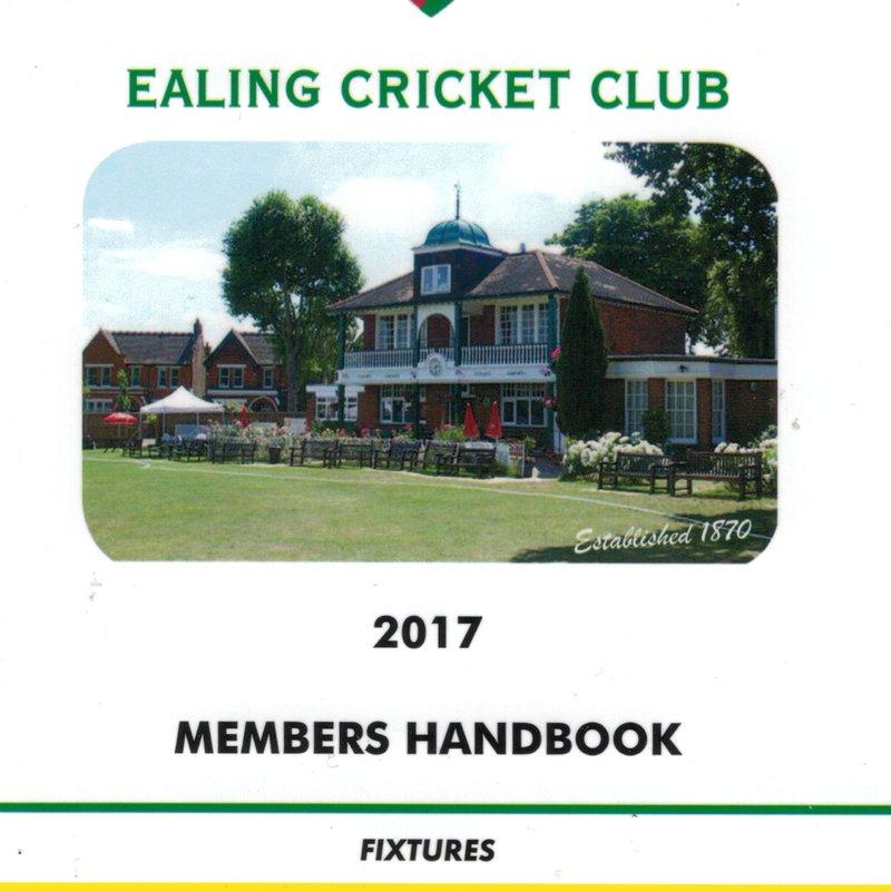 Ealing CC Cricket Handbook 2017