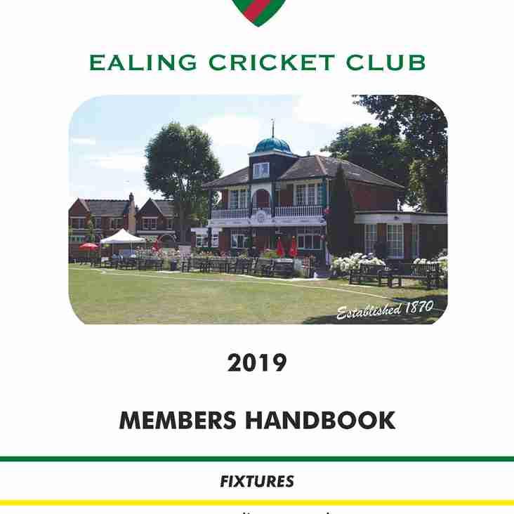 The Ealing CC Handbook 2019