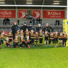 Helsby minis win at the AJ Bell Stadium