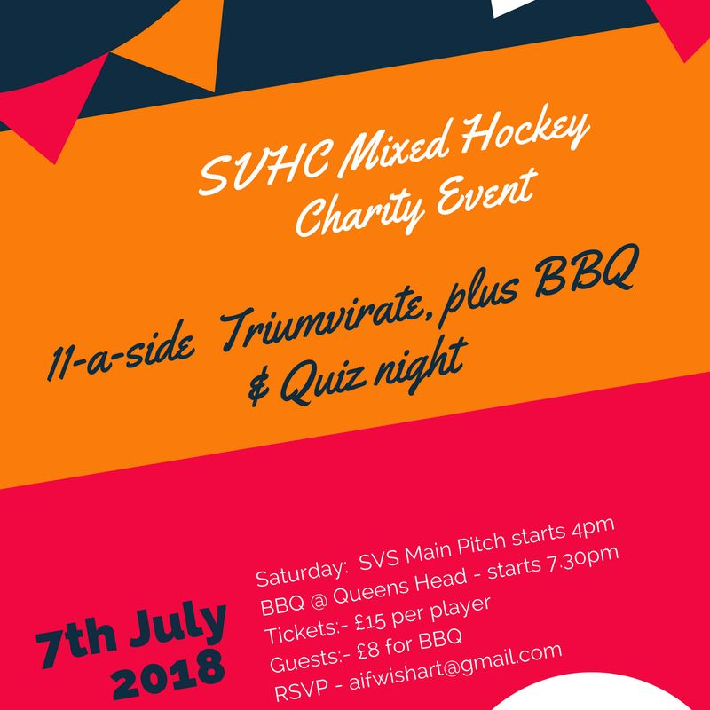 SVHC Mixed Hockey Charity Event  -  7th July