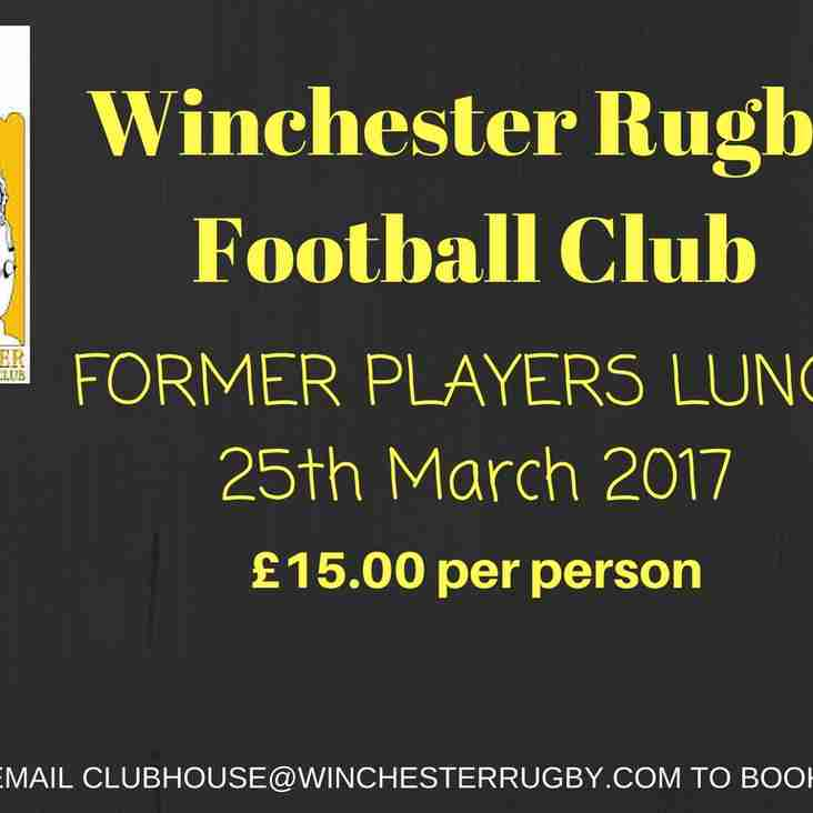 Last Call For Former Players Lunch