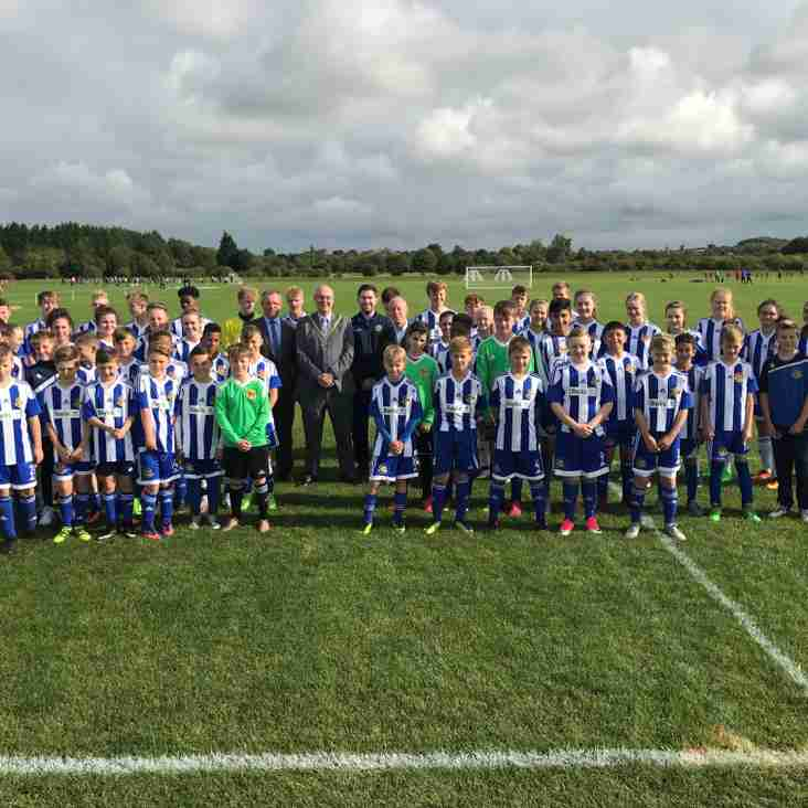 City Youngsters Use New Perdiswell Pitches