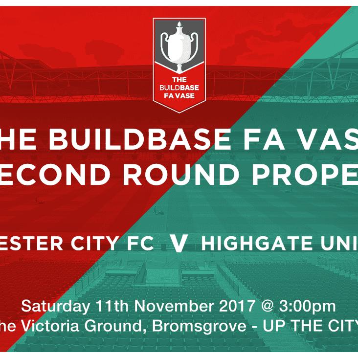 FA Vase 2nd Round Match Information