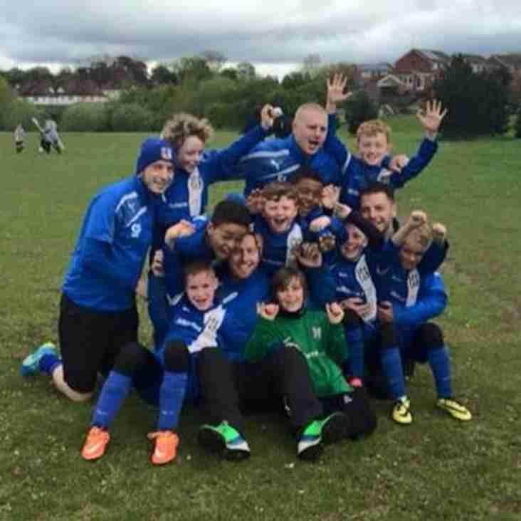 Lye Town U8s Spring trophy group winners!