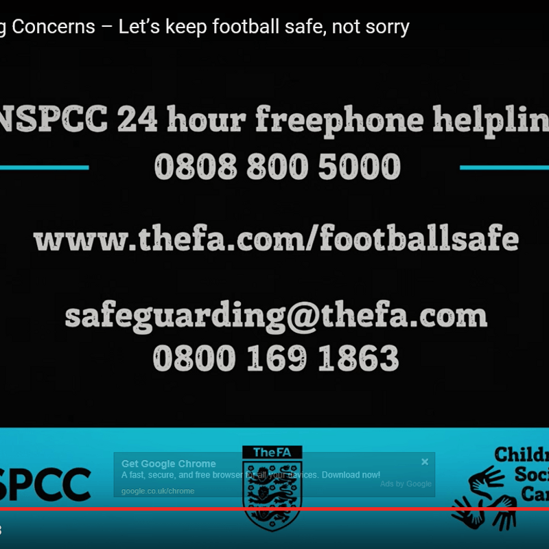 SAFEGUARDING - MAKING OUR GAME SAFE NOT SORRY