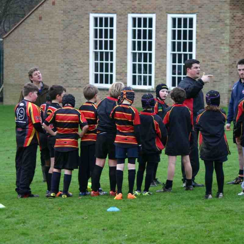 Under 10s training 4th January 2015
