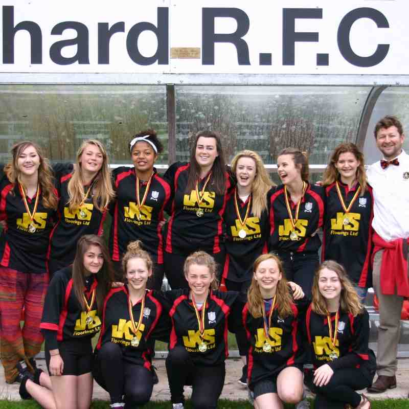 U16 ladies presentation day 2015