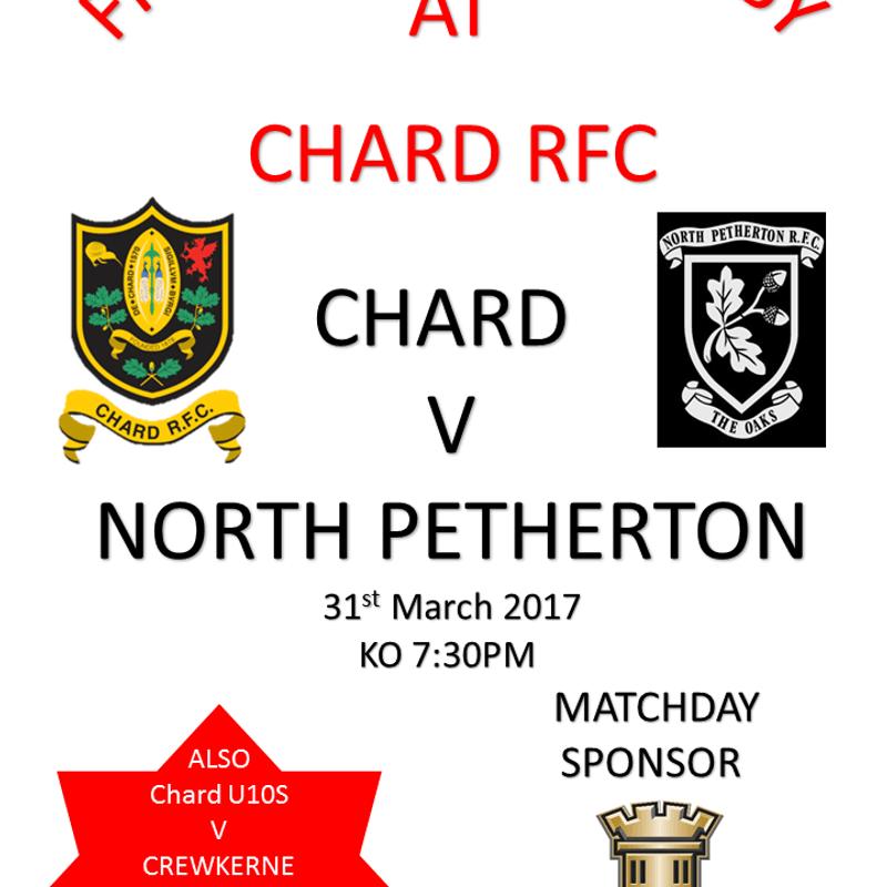 Friday night Chard  v North Petherton KO 7:30