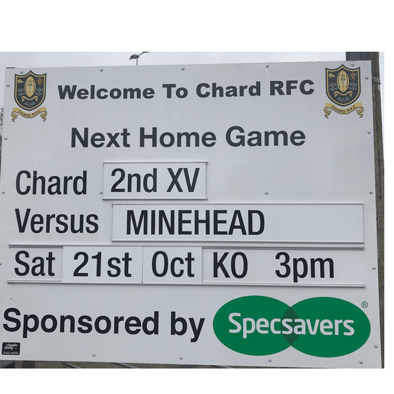 This weeks action for Chard RFC