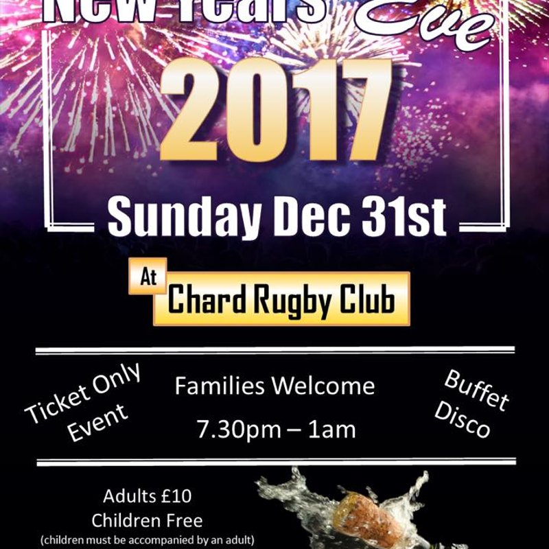 Tickets available to buy on line for NYE party