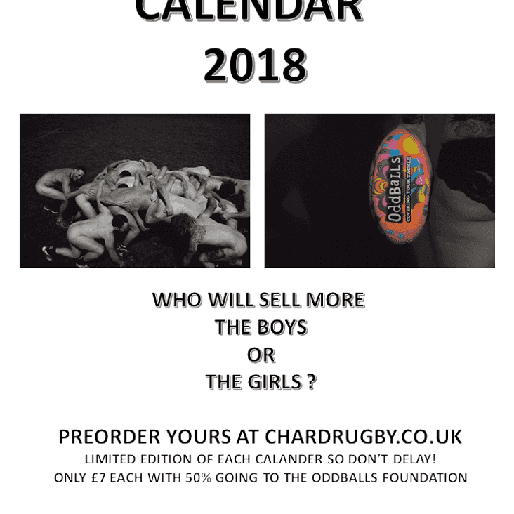 Chard RFC Charity Calendar 2018