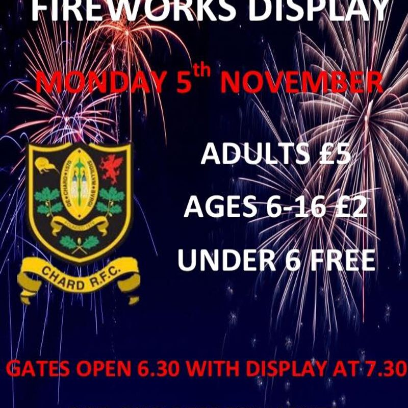 Fireworks at Chard Rugby Club
