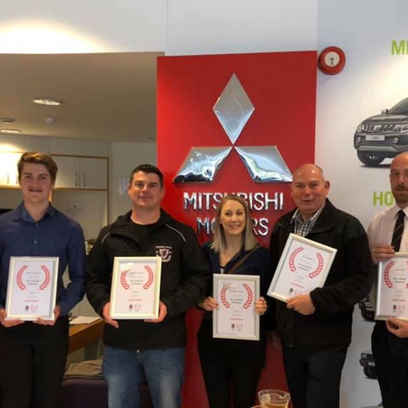 Chard volunteers recognised at Mitsubishi event