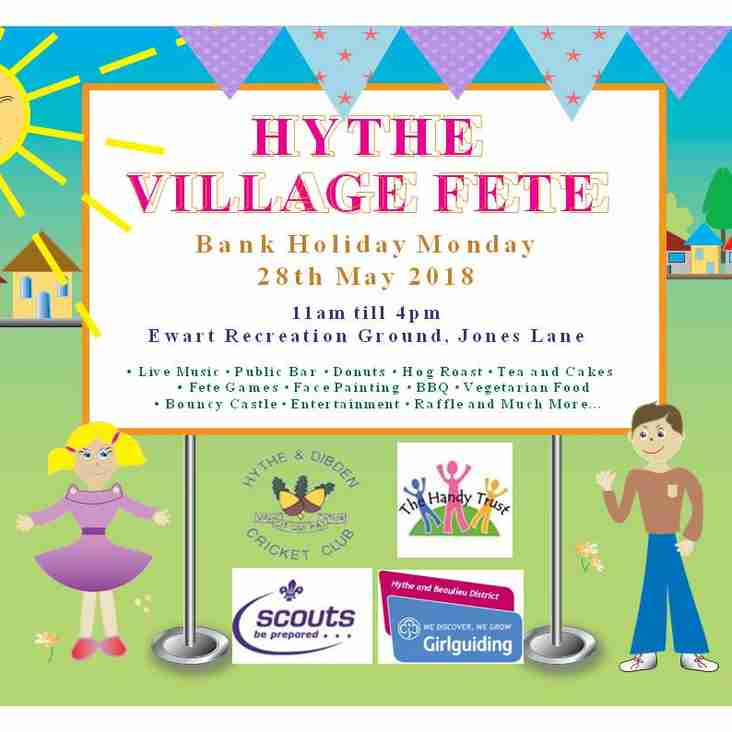 Hythe Village Fete - Monday 28th May 2018 11am - 4pm