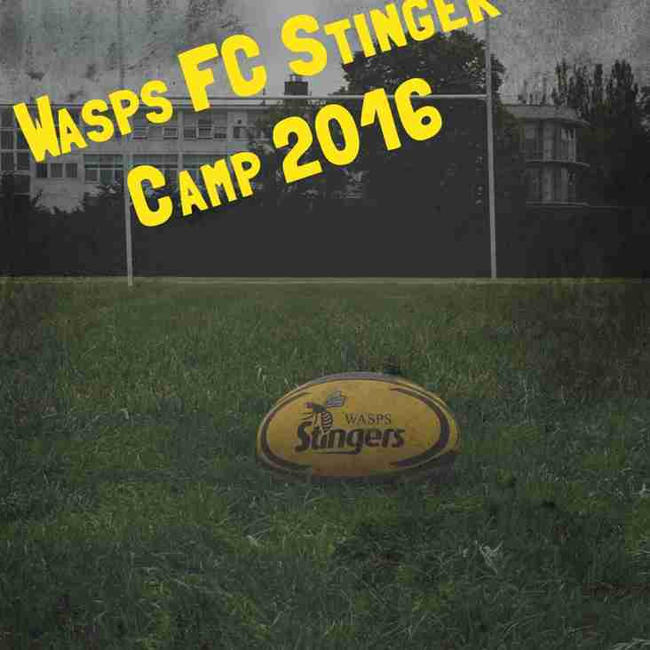 Wasps FC Stinger Camp 2016 - ONE WEEK TO GO!