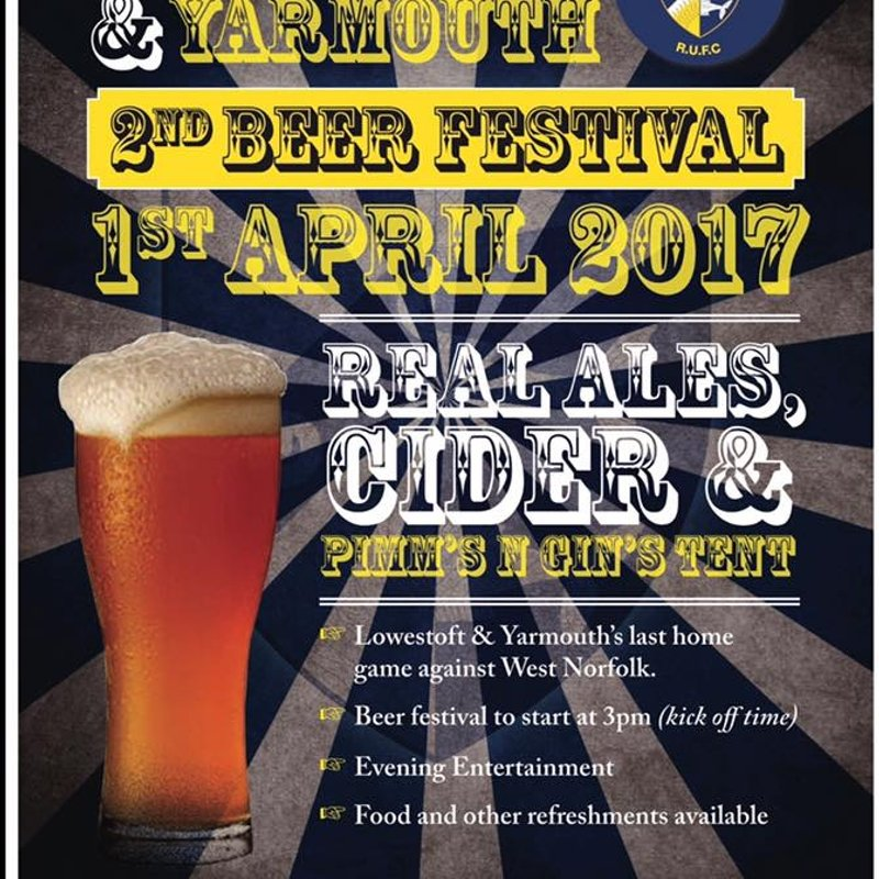 2nd Lowestoft & Yarmouth Beer Festival...