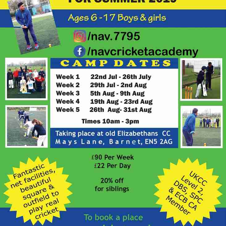 Nav's Summer Cricket Camps