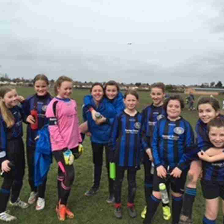 U 12's Girls Play out tense Cup Final
