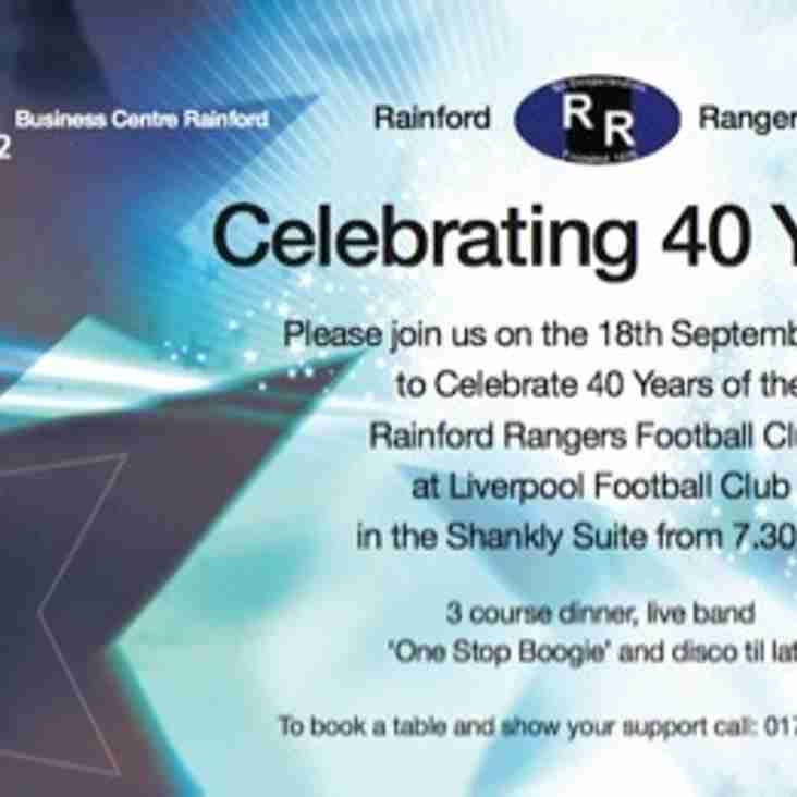 40th Celebrations Postponed