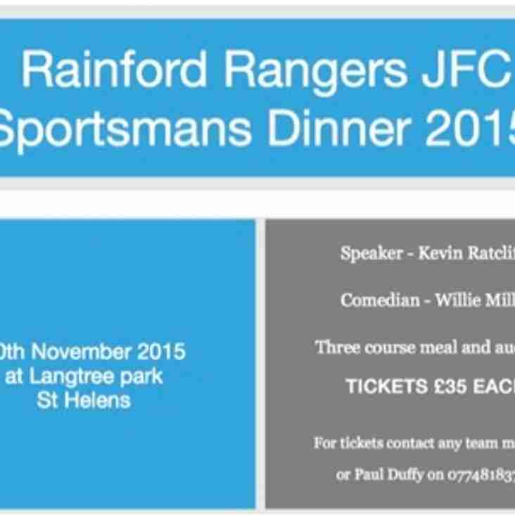 Rainford Rangers 2015 Sportsmans Dinner