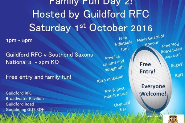 Family Fun Day 2 - Saturday 1st October 2016