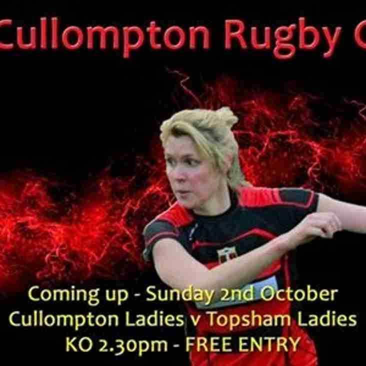 CULLOMPTON LADIES VS TOPSHAM