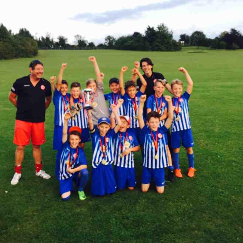 U11 Winners of Cherry Hinton Lions tournament