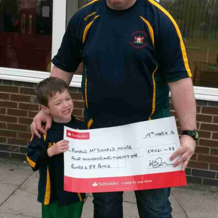 Woolston Rovers and Santander Charity Donations to Ronald McDonald House, Alder Hey & the Royal British Legion Poppy Appeal