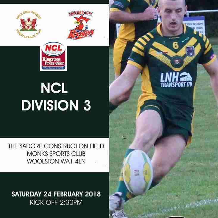Woolston Rovers v Salford City Roosters - Saturday afternoon