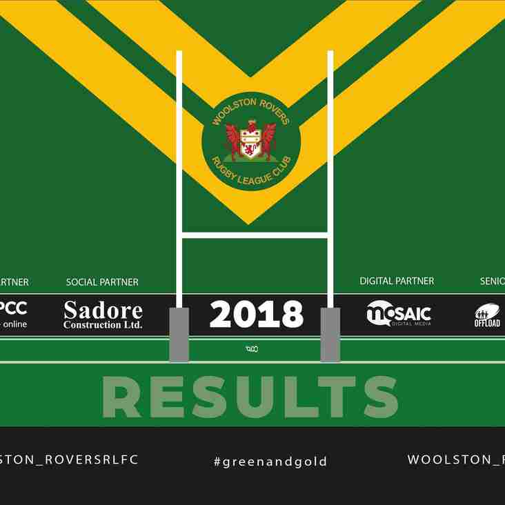 WOOLSTON ROVERS JUNIOR RESULTS – 14.10.18