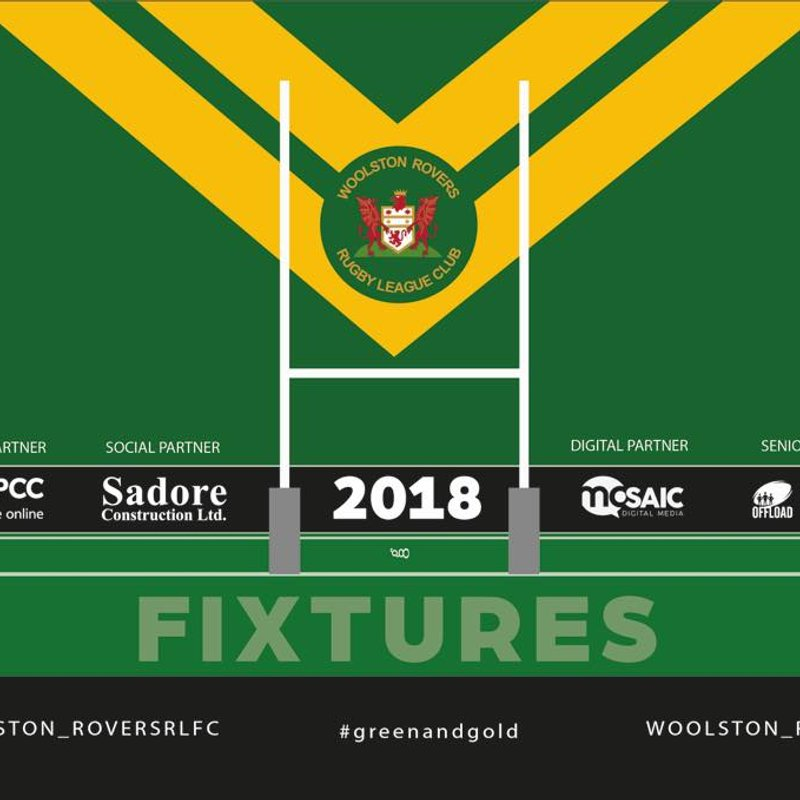 Woolston Rovers Junior Home Fixtures - Sunday 23rd September